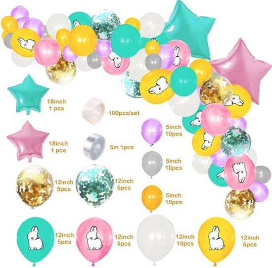 69 delig ballonpakket met konijnen