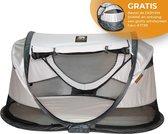 DERYAN Shane Luxe 2021 - Campingbedje - Pop up - Anti-UV 50+ -Silver -GRATIS Windscreen