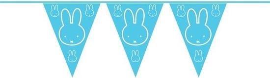 Blauwe Nijntje thema geboorte vlaggenlijn van 6 meter - jongen geboren