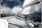 Zeilboot op de Noordzee 180x120 cm XXL / Groot formaat!