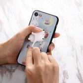 Let op type!! For iPhone 6 Plus & 6s Plus 3D Lovely Rabbit Cartoon Pattern Squeeze Relief IMD Workmanship Squishy Dropproof Protective Back Cover Case