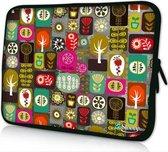 Sleevy 15,6 laptophoes kleurrijke symbolen - laptop sleeve