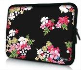 Sleevy 15.6 laptophoes gekleurde bloemen - laptop sleeve