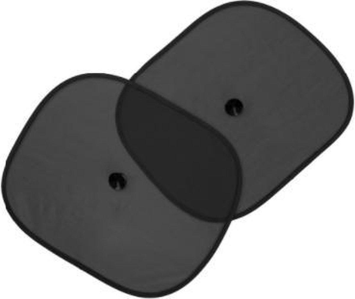 Zonnescherm Auto - Zonwering - Zijruit - UV Protectie - 2 Stuks met Rheme Liniaal