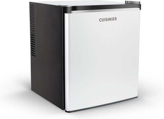 Mini koelkast: Cuisinier Deluxe - Thermo-elektrische Mini Koelkast - Zwart/Wit/Zilver, van het merk Cuisinier