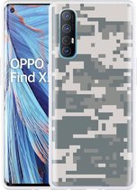 Oppo Find X2 Neo Hoesje Army Digi Camouflage