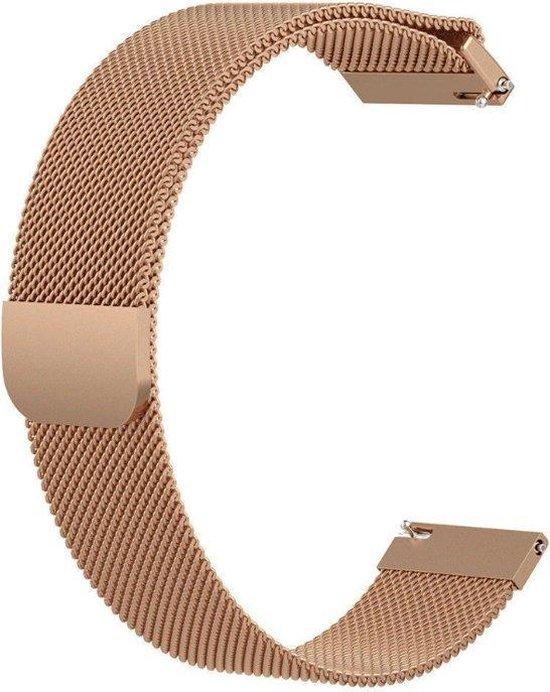 Milanees bandje 20mm roségoud geschikt voor Garmin Venu/Vivomove/Vivoactive 3/Forerunner 245/Forerunner 645