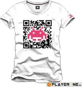SPACE INVADERS - T-Shirt QR Code White (S)