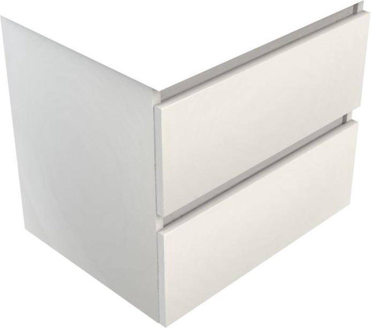 Sub 120 wastafelonderkast 100x46 cm met 2 laden, wit gelakt