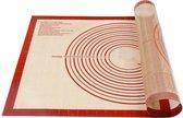 Siliconen Bakmat - Deegmat 70x50 cm - Hoge Kwaliteit Bakpapier - Bakmat Groot - Deegmat Met Afmeting en Bemating -