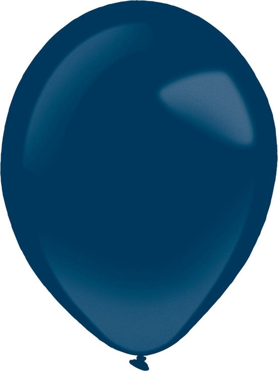 Amscan Ballonnen Metallic 12 Cm Latex Donkerblauw 100 Stuks