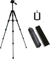 Statief smartphone - Tripod Smartphone - Statief voor smartphone - verstelbaar - tot 140 cm hoog - statief voor telefoon en camera