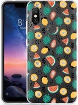 Xiaomi Redmi Note 6 Pro Hoesje Tropical Fruit