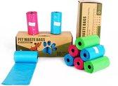 Pets Waste Bags Afbreekbare Hondenpoepzakjes - 300 stuks (20 rollen x 15 zakjes per rol )