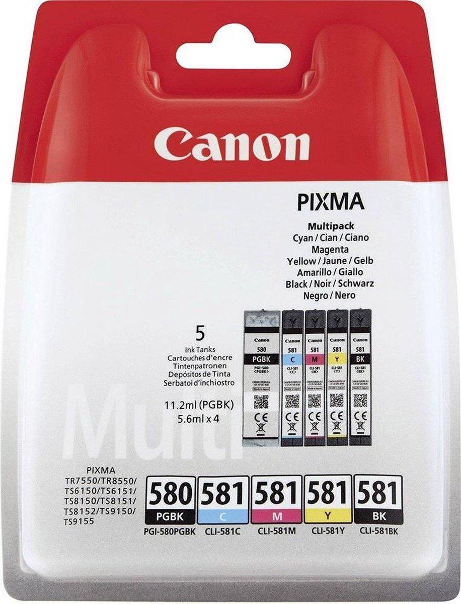 Canon PGI-580/CLI-581 - Inkcartridge multipack / Zwart / Cyaan / Magenta / Geel