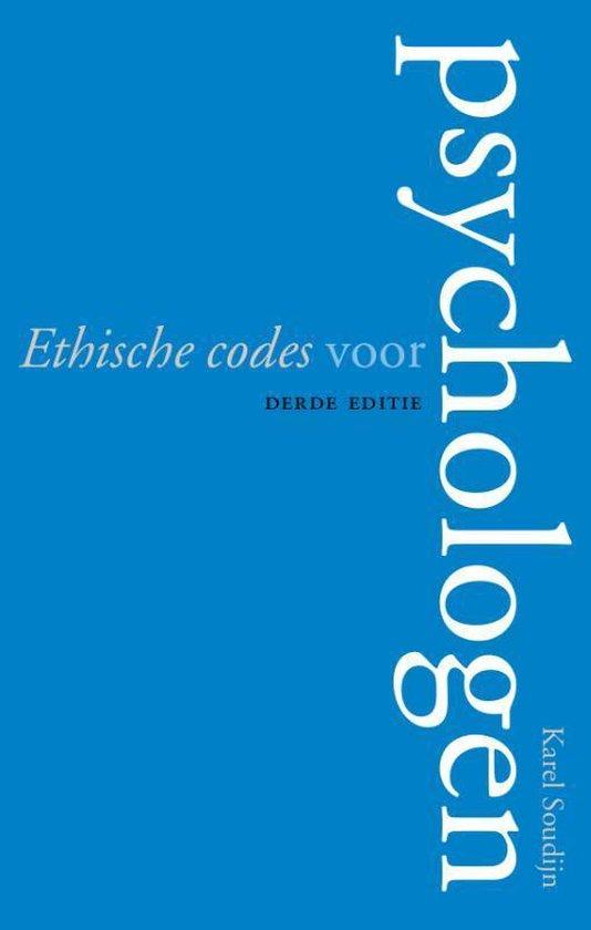 Ethische codes voor psychologen - Karel Soudijn |