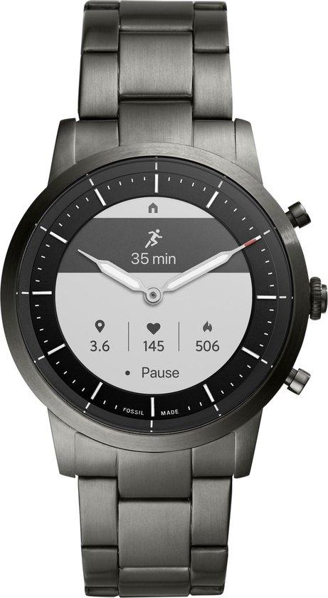 Fossil Collider Hybrid HR FTW7009 Smartwatch Heren - 42 mm - Grijs