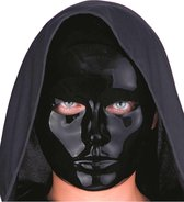 CARNIVAL TOYS - Zwart masker voor volwassenen - Maskers > Half maskers