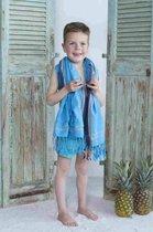 Kikoy Kinder Strandlaken Blue Jeans
