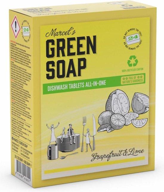 Marcel's Green Soap Vaatwastabletten Grapefruit & Limoen 24 tabs