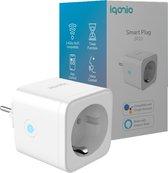 Iqonic® Slimme Stekker - Tijdschakelaar & Energiemeter - Smart Plug - Smartphone App