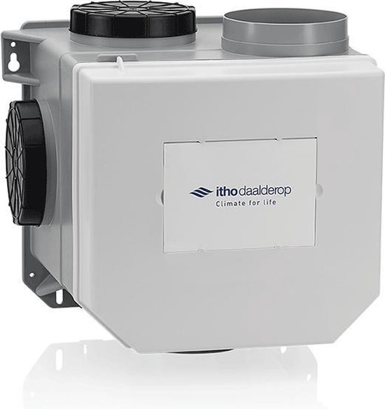 Mechanische ventilatie van Itho Daalderop, eenvoudig te koppelen met Homey voor een gezonder binnenklimaat.