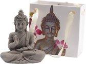 Boeddha in tasje 5x5.5cm
