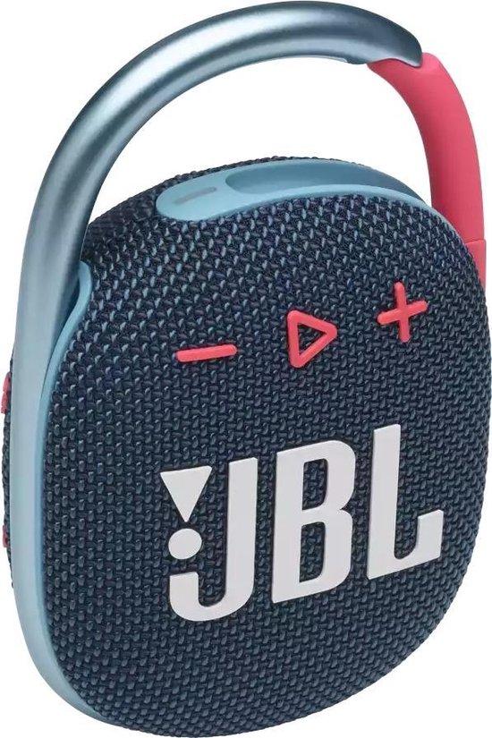 JBL Clip 4 Blauw/Paars - Draagbare Bluetooth Mini Speaker