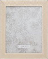 Clayre & Eef Fotolijst 24*2*29 / 20*25 cm Beige Kunststof / Glas Rechthoek Fotokader Wissellijst