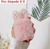 Hidzo Hoes Voor Apple's Airpods - Konijn - Roze