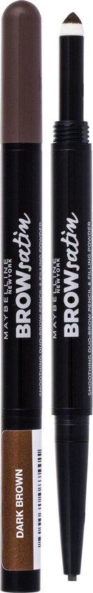 Maybelline Brow Satin Duo Wenkbrauwpotlood en Poeder - 04 Dark Brown - Donkerbruin