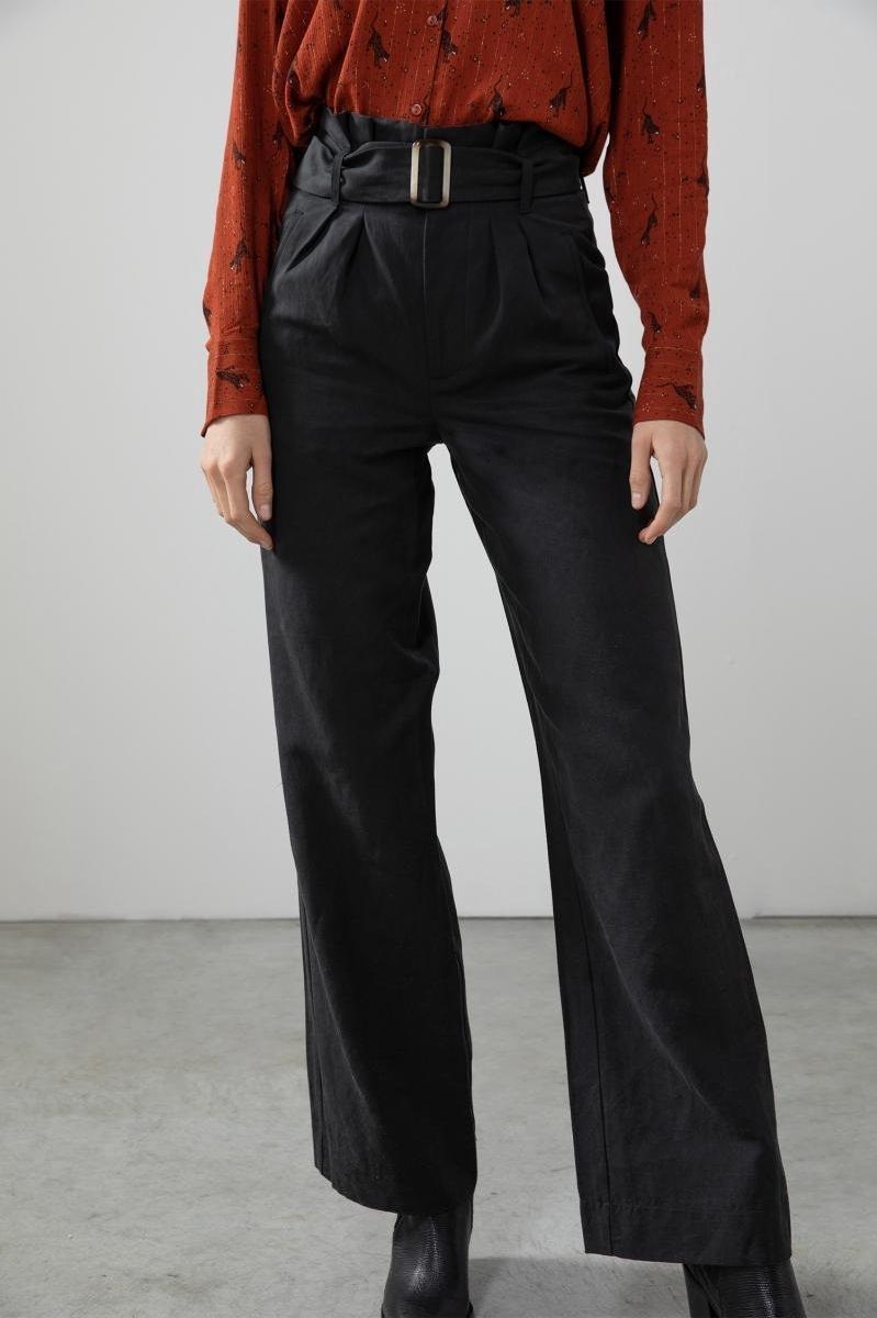 Sissy-Boy - Zwarte paperbag broek wide leg