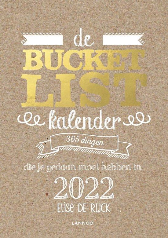 Boek cover Bucketlist  -   De Bucketlist scheurkalender 2022 van Elise de Rijck (Hardcover)