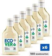 Ecover ZERO Vloeibaar Wasmiddel - Voordeelverpakking 6 x 1,5 l - 180 Wasbeurten