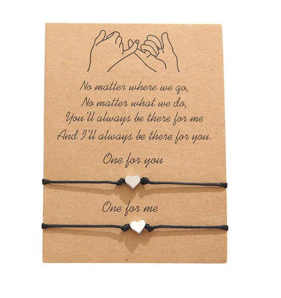 Akyol  Vriendschapsarmband - Cadeau voor vriend -vriendschaparmband -armband voor 2- armband voor vr