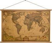 National Geographic - Grote Wereldkaart - Landkaart - Schoolkaart 75 x 50 CM - Wanddecoratie - Kwaliteit - Design - Om aan de muur te hangen - Wereld Kaart - Land Kaart - Continenten - Hout