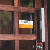 Camerabewaking sticker - Smart Home Beveiliging - verplicht bij slimme deurbel of camera - plakt aan de achterkant - weerbestendig
