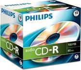 Philips Cd-R 700Mb Audio Jewel Case 10 Stuks