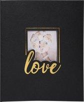 Fotoalbum LOVE - boekgebonden - 60 zwarte pagina's - 29x32cm, Zwart