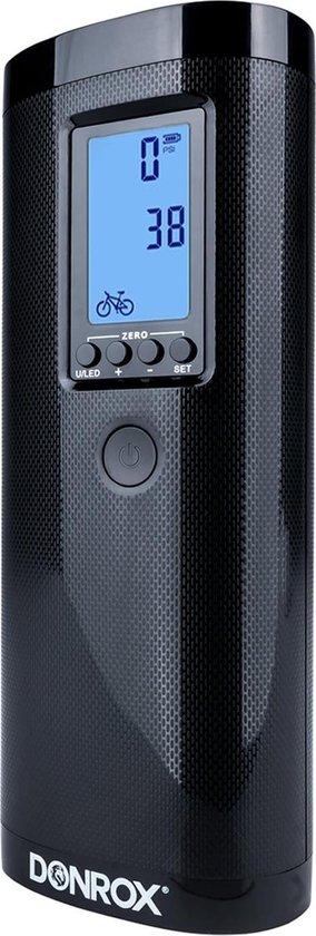 Donrox Ride F511 - Draagbare Compressor - Elektrische Bandenpomp - Fietspomp - Luchtcompressor met powerbank - USB oplaadbaar