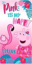 Peppa Pig Pink microfiber beach towel