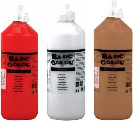 Wonderbaar bol.com | Set van 3x flessen Bruine-Witte-Rode hobby knutselen PJ-03