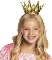 Gouden prinsessen kroontje kind - Koningsdag kroontje goud meisje