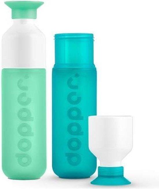 Dopper Drinkfles - Mintata en SeaGreen - duo set 2 kleuren
