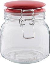 Clayre & Eef | Voorraadpot 13*11*13 cm / 0,75L | Transparant | Glas / keramiek | Rond | 6GL1986S