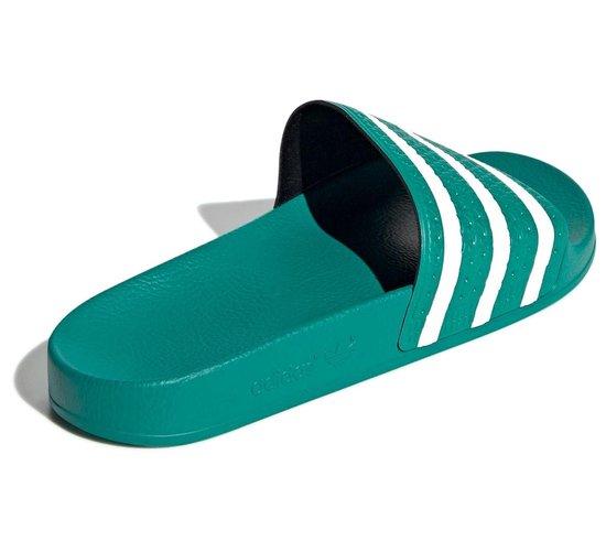 bol.com | adidas Slippers - Maat 42 - Unisex - groen/wit