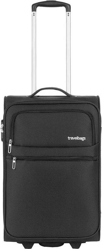 Travelbags Lissabon Handbagage koffer - 55 cm - 2 wielen - black