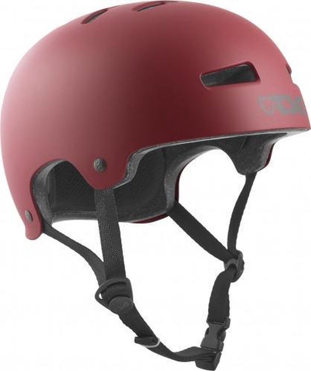 TSG Evolution skateboard helm satin oxblood