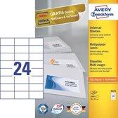 Avery 3474 printeretiket