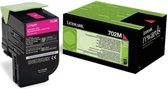 LEXMARK 702M tonercartridge magenta 1.000 paginas return program